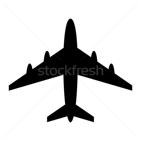 Aereo battenti vettore icona viaggio aeroporto Foto d'archivio © briangoff