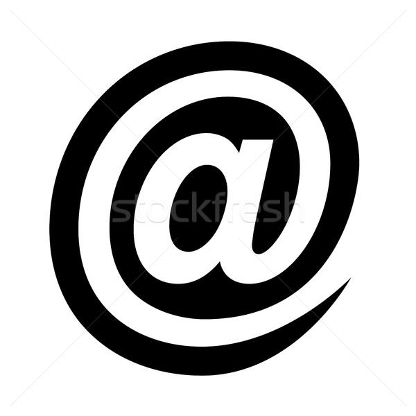 Email At Sign Stock photo © briangoff