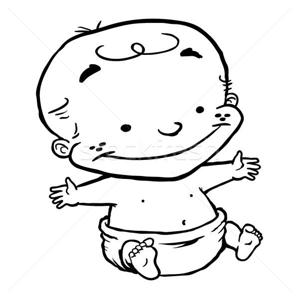 Baby Child Kid cartoon Stock photo © briangoff