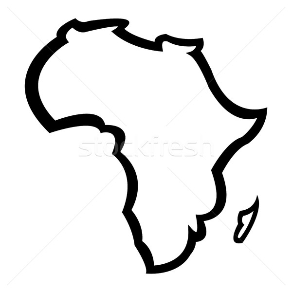 Map of Africa Stock photo © briangoff
