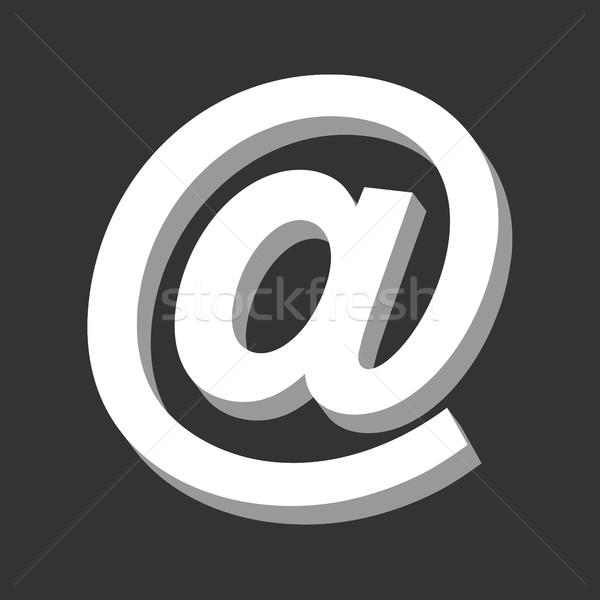 E-mail imzalamak Internet dizayn web posta Stok fotoğraf © briangoff