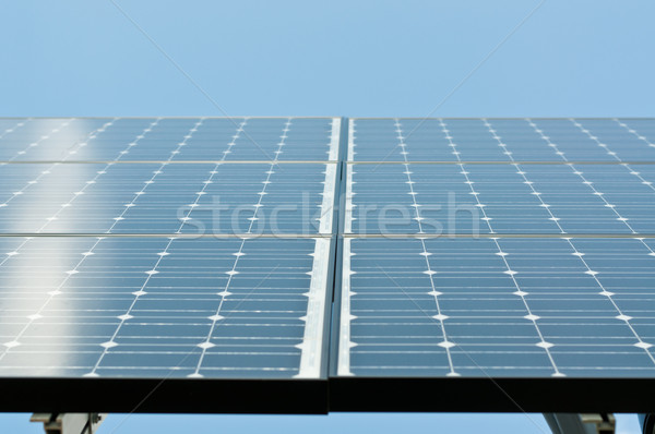 Stock photo: Sunlight Reflecting on Solar Panels