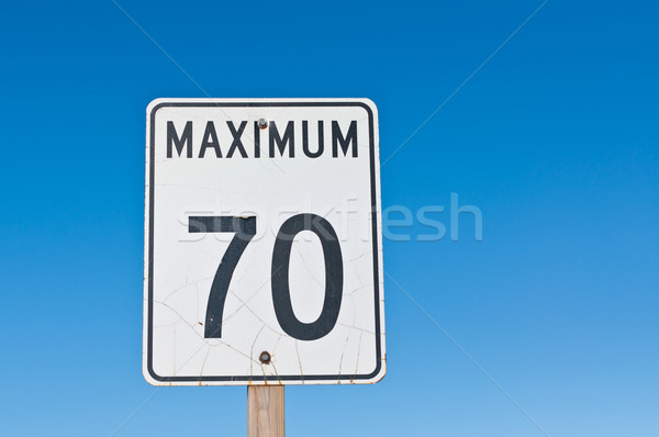 Maximum 70 Sign Stock photo © brianguest