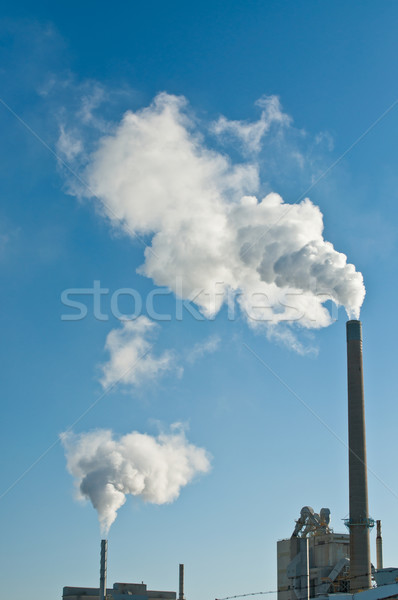 Factory with Smokestacks and Blue Sky Stock photo © brianguest