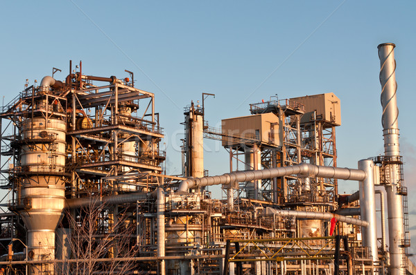Petrochemical Refinery in the Evening Stock photo © brianguest
