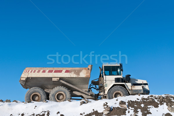 Dump Truck on a Construction Site in Winter Stock photo © brianguest