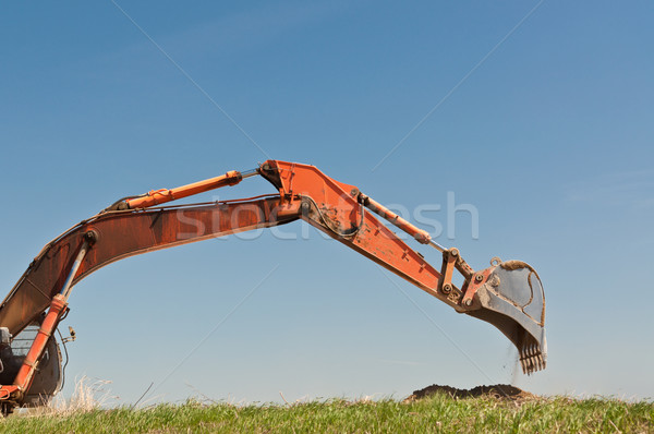 Hydraulic Excavator Arm and Bucket Stock photo © brianguest