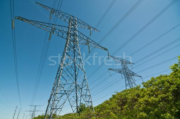 Stockfoto: Elektrische · elektriciteit · lang · lijn