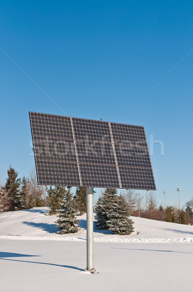 Renewable Energy - Photovoltaic Solar Panel Array in Winter Stock photo © brianguest