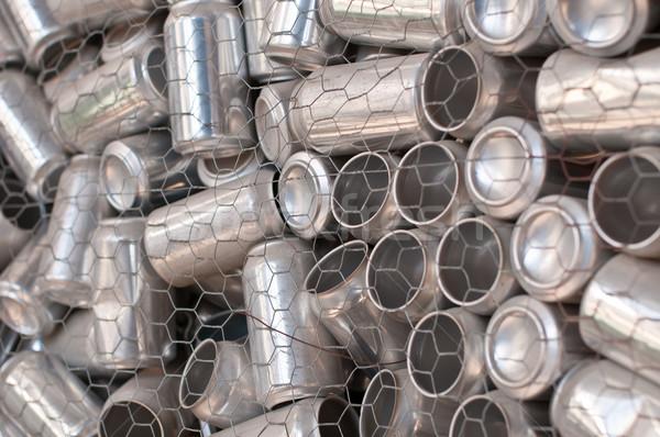 Riciclaggio alluminio contenitore bere nessuno orizzontale Foto d'archivio © brianguest