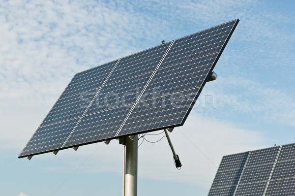Renewable Energy - Photovoltaic Solar Panel Arrays Stock photo © brianguest