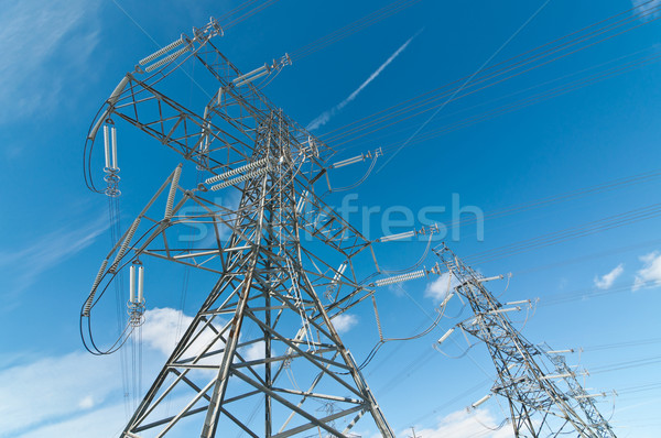 Electrical Transmission Towers (Electricity Pylons) Stock photo © brianguest