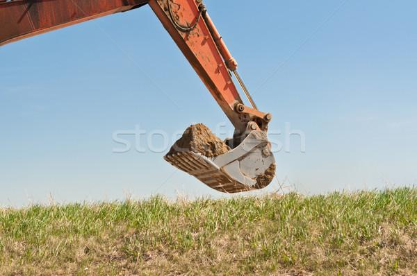 гидравлический экскаватор руки ковша травянистый трава Сток-фото © brianguest