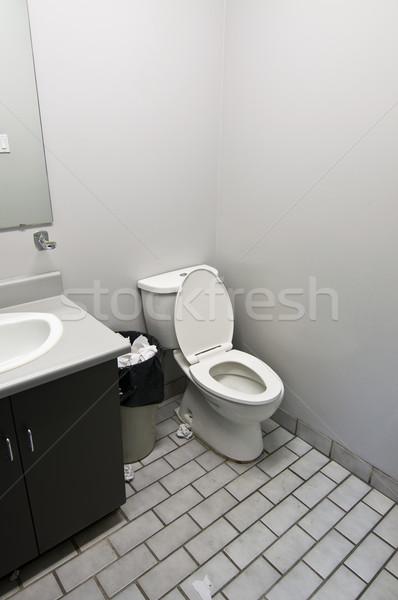 Wc iroda illemhely mosdókagyló szemét kosár Stock fotó © brianguest
