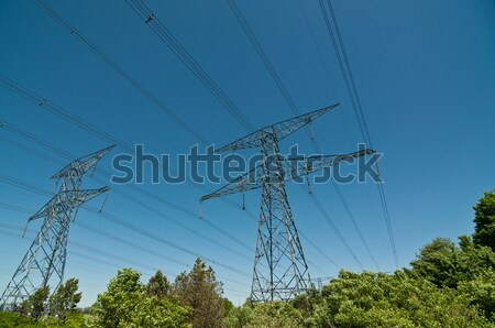 Stock photo: Electrical Transmission Towers (Electricity Pylons)