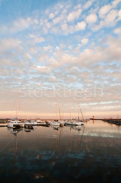 Hajók tó Ontario csoport marina Toronto Stock fotó © brianguest