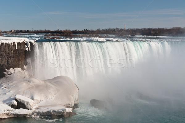 Niagara Falls amerikaanse winter rivier natuur waterval Stockfoto © brianguest