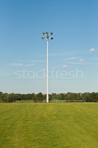 Sports Field Lights Stock photo © brianguest