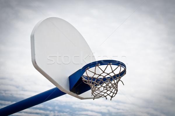 Speeltuin basketbal outdoor metaal spel buitenshuis Stockfoto © brianguest