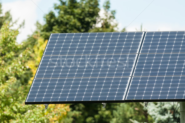 Green Energy - Photovoltaic Solar Panel with Trees Stock photo © brianguest