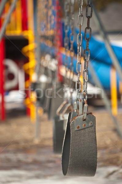 Pusty boisko zestaw piasku huśtawka Zdjęcia stock © brianguest