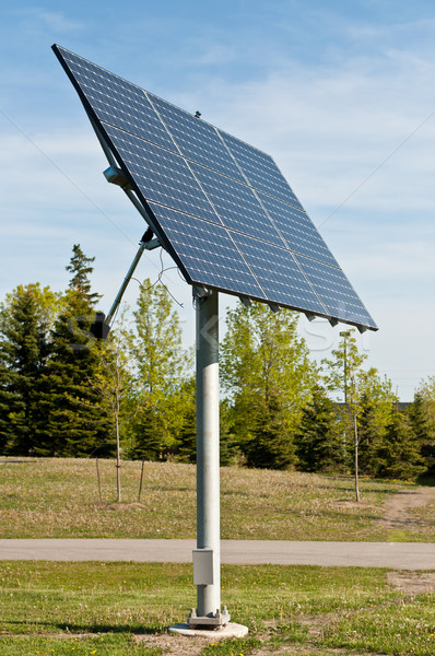 Solar Panels in a Public Park - Alternative Energy Stock photo © brianguest