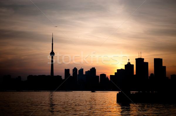 Торонто порт закат Skyline воды Cityscape Сток-фото © brianguest