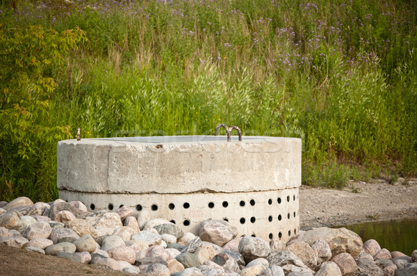 Stormwater Management System - Perforated Concrete Pipe Stock photo © brianguest