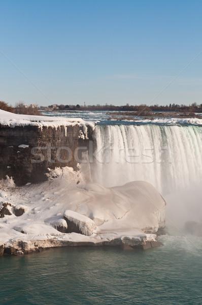 Niagara Falls winter ijs omhoog water sneeuw Stockfoto © brianguest