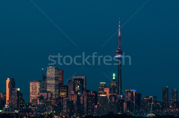 Toronto wieczór ontario Kanada świetle Zdjęcia stock © brianguest