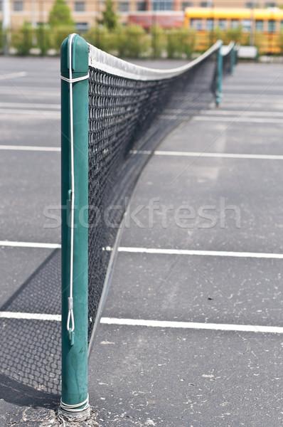 Court de tennis école jeu personne Photo stock © brianguest