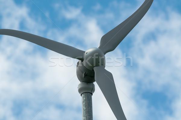 éolienne ciel électrique énergie ciel bleu Photo stock © brianguest