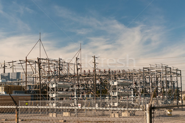 Transformatör elektrik adımlar aşağı iç Stok fotoğraf © brianguest