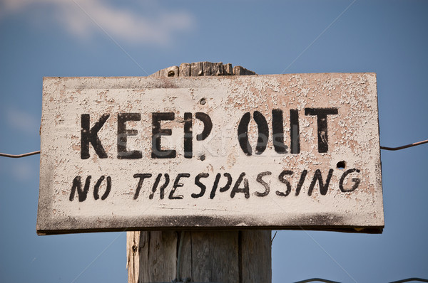 Keep Out - No Trespassing Sign Stock photo © brianguest