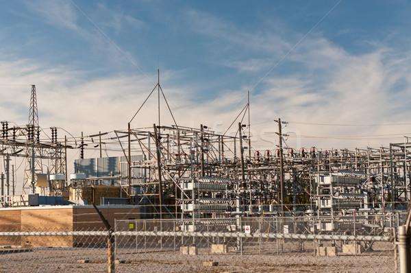 Transformator elektryczne kroki w dół krajowy Zdjęcia stock © brianguest