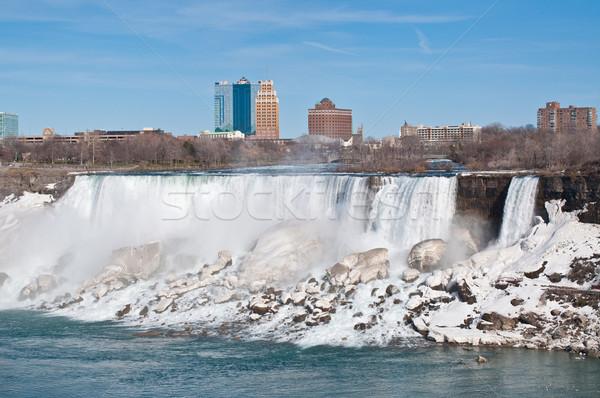 Niagara Falls amerikaanse winter rivier water natuur Stockfoto © brianguest