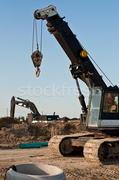 Construction Equipment at a Building Site Stock photo © brianguest