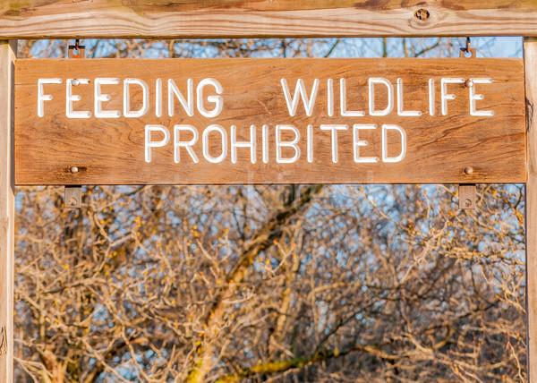Wildlife verboden teken achtergrond behang Stockfoto © brm1949