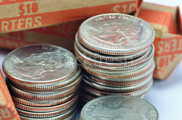 Stack Of Quarters Stock photo © brm1949