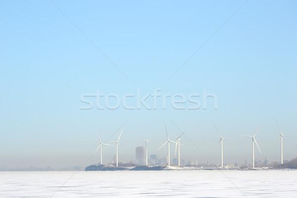Windmills Of Buffalo New York Stock photo © brm1949