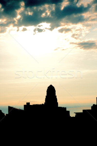 Buffalo Skyline silhouette Stock photo © brm1949