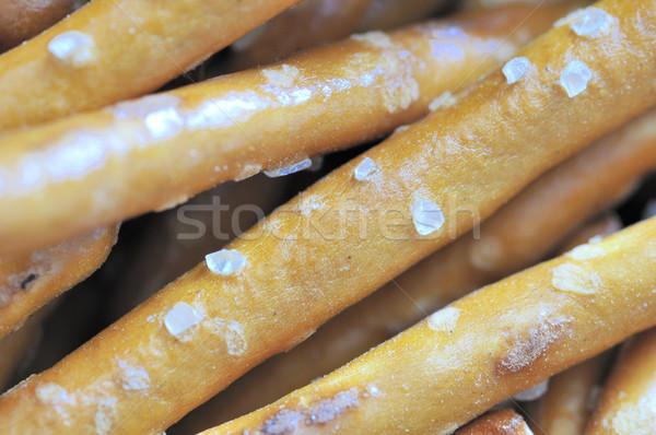 Tuzlu kraker makro görmek Stok fotoğraf © brm1949
