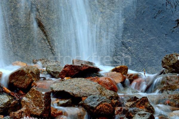 Góry strumienia zimą uruchomić Zdjęcia stock © brm1949