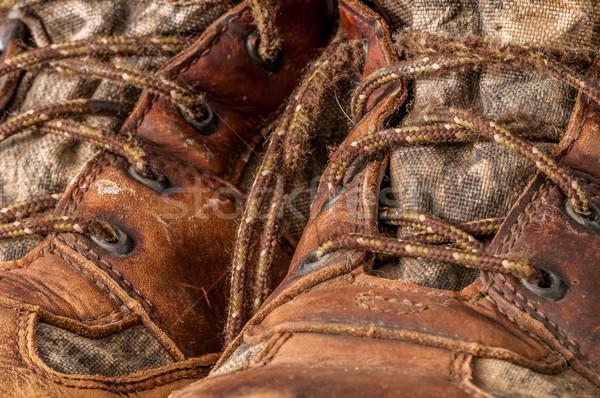 Avcılık çizme duvar kağıdı arka plan dişli Stok fotoğraf © brm1949
