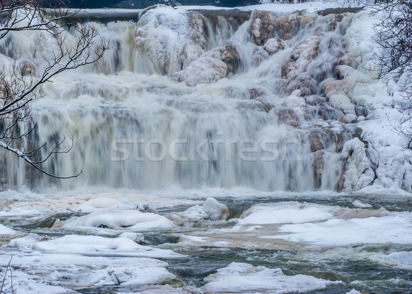 Winter Water Falls Stock photo © brm1949