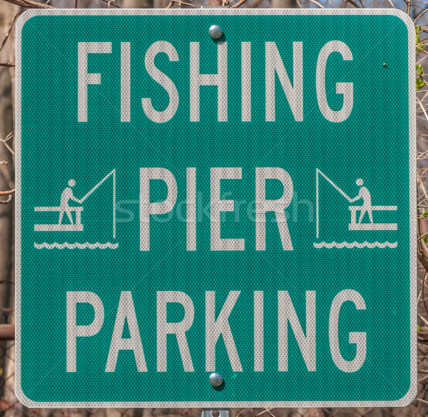Fishing Parking Sign  Stock photo © brm1949