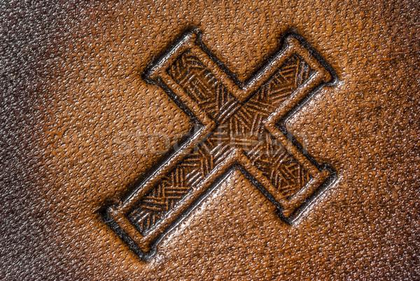 Leather Cross Stock photo © brm1949