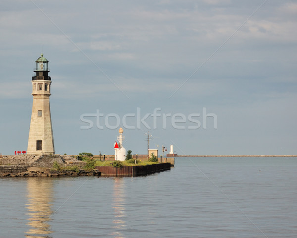 Fő- világítótorony torony közvetlenül marina belváros Stock fotó © brm1949