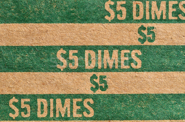 Dime Roller Background Stock photo © brm1949