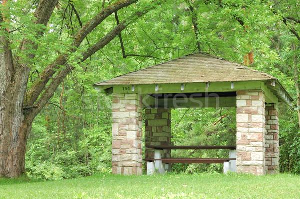 Piquenique abrigo parque verão meses Foto stock © brm1949
